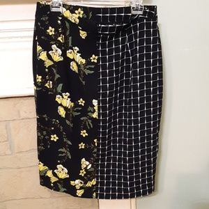 Who What Wear Skirts - Who What Wear Plaid and Floral Midi Skirt Sz 10